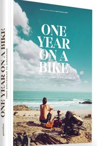 One Year on a Bike: From Amsterdam to Singapore by Martijn Dolaard - Click on image to hear Melissa's interview with Martijn!