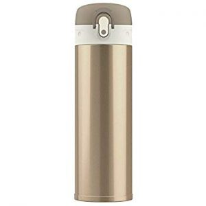 Stainless steel pale bronze coloured water bottle