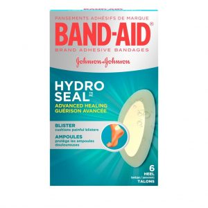 Band-Aids for heel blisters from Johnson & Johnson, Hydro Seal